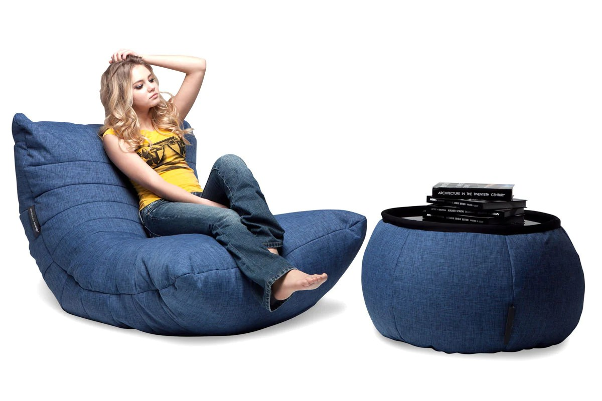 Bean Bags Chair Acoustic Sofa Bean Bag In Blue Jazz Indoor